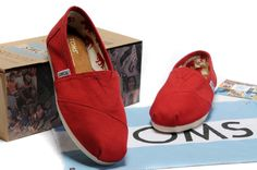 Toms Classic Shoes Canvas Women Red