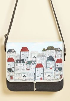 Now at a Bungalow Cost Bag. Anytime an estate sale sign or yard sale flyer goes up, this faux-leather bag by Disaster Designs opens up!  #modcloth $65
