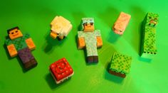 Minecraft characters Steve, TNT, Armor, Creeper and all the gang on Etsy, $50.00