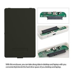 "new Black External Hard Drive Disk Enclosure Usb 2.0 Sata 2.5"" Inch Portable Case Hdd Support 2TB Hard Drive"