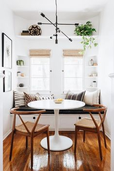 Love the shelf up top and the window treatments!