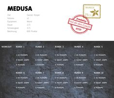Freeletics Medusa Workout - - Perfect İdeas For Doing Exercise Tabata Workouts, At Home Workouts, Leg Toner Workout, Freeletics Workout, Diy Spa Day, Body Workout At Home, 30 Day Workout Challenge, Do Exercise, Calisthenics