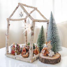 8 idées pour fabriquer une crèche de Noël DIY