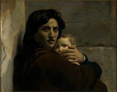 Léon Cogniet, Tête de femme et d'enfant, Esquisse pour la Scène du Massacre des Innocents, vers 1824, huile sur toile, Orléans, Musée des Beaux-Arts. © Musée des Beaux-Arts d'Orléans