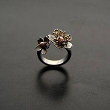 Prstene - Prsteň dva kvety - 8208741_