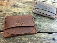 This FLAP WALLET is a personalized handmade and handstitched leather wallet that is perfect as a Groomsmen gift, Fathers Day gift, Boyfriend gift, Husband gift, Wedding Party, Birthday gift and the best Christmas Gift. Our leather wallets get better with age and the classic design will never go out of style.
