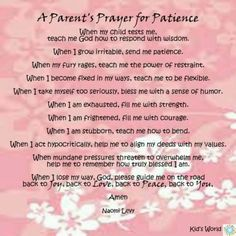 Parents prayer for patience