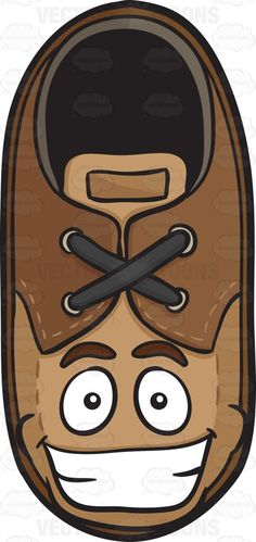 Brown Shoe With Big Cheesy Grin Emoji #apparel #clothe #departmentstore #dress #ecstatic #facialexpression #facialgesture #feet #foot #footgear #footwear #garb #garment #grin #grinning #happy #heel #insole #leather #shoe #shoedepartment #shoestore #shoes #shoestring #shop #smile #smiling #sole #stitches #suede #vector #clipart #stock