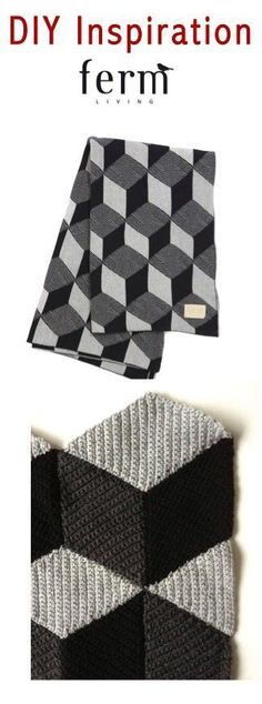 DIY Geometrical Crochet Blanket in the style of Ferm Living | This illusion blanket is so neat to look at - and it's surprisingly simple to work up!