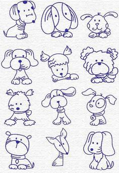 Drawing Doodles Sketches Free Embroidery Designs, Sweet Embroidery, Designs Index Page Doodle Drawings, Easy Drawings, Animal Drawings, Doodle Art, Puppy Drawings, Cartoon Dog Drawing, Drawing Cartoons, Dog Sketches, Easy Sketches