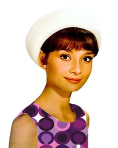 """Audrey Hepburn Loves Coach Pop Art Canvas 16 x 20 