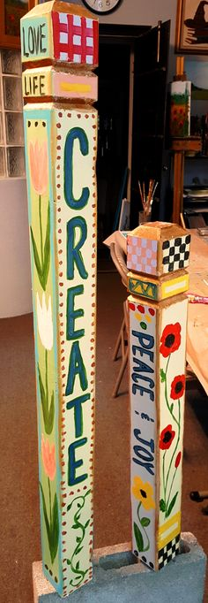 Take a look at the next fun project we will be doing at The Studio - Peace/Garden Poles!