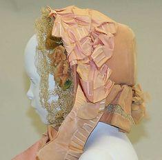 Lovely 1860s bonnet.