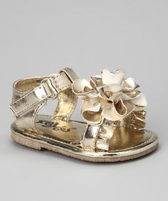 Take a look at this Gold Blossom Sandal by Xeyes on #zulily today!
