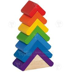 Colourful Stacking Tower: Only £14.99 from Toyday Toyshop. Wooden colourful stacking tower. Toyday traditional & classic toys is an old fashioned toy shop on the high street and online. Merchants of traditional and classic toys, Toyday's focus is on good old fashioned customer service & traditional value.