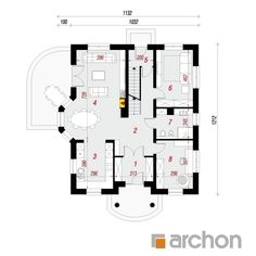 Dom w tymianku 10 (P) Floor Plans, American Houses, Floor Plan Drawing, House Floor Plans