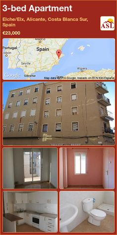 3-bed Apartment in Elche/Elx, Alicante, Costa Blanca Sur, Spain ►€23,000 #PropertyForSaleInSpain