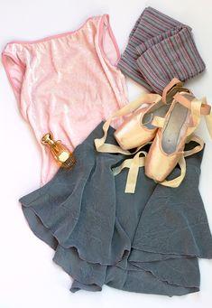 Yumiko Sofiane leotard; Danseuse Misty skirt in Muted Grey; Harmonie for Capezio legwarmers; Grishko Nova pointe shoes; Annick Goutal Grand Amour perfume