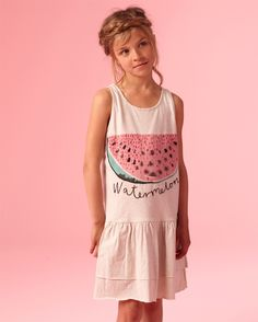 Soft Gallery Watermelon Dress With Embroidery | Scandinavian Minimall