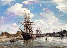 Johan Barthold Jongkind - Port d'Honfleur (1863)