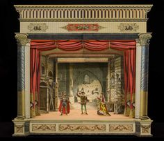 A paper theater model at the Bruce Museum. Source: Bruce Museum via Bloomberg Tunnel Book, Stage Set Design, Toy Theatre, Marionette, Museum, B 13, Jewish Art, Toy Craft, Mini Craft