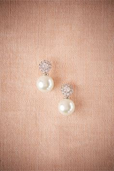 Bridal Wedding Jewelry BHLDN Witt Drops in Bride Bridal Jewelry Earrings at BHLDN - Stacked glass pearls and cubic zirconium add polished sparkle to rouged cheeks. Only available at BHLDN Style Wedding Jewelry For Bride, Wedding Earrings, Bridesmaid Jewelry, Bridal Jewelry, Wedding Necklaces, Pearl Necklace Wedding, Pearl Bridal, Bridal Shoes, Wedding Shoes