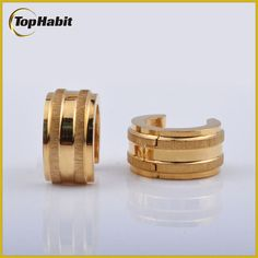 Features of 2015 Latest Trend Gold Hoop Designer Earrings: Tophabit®2015 Latest Trend Gold Hoop Designer Earrings are made of stainless steel which is nickel free. it has a similar appearance to metal, is much thicker and will not tarnish, and this metal type is popular among those who may have metal allergies. It is as sturdy