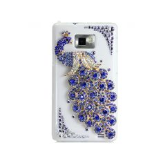 Handmade Hard Case For Samsung Galaxy S IV/S4 GT-I9500: Bling Peacock (customized Are Welcome)