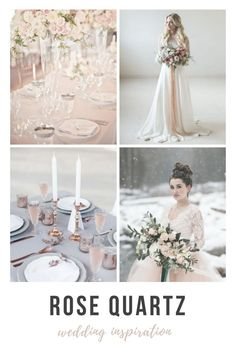 Secrets for how to pull off a rose quartz inspired wedding from the Dessy Group blog - click through for details.