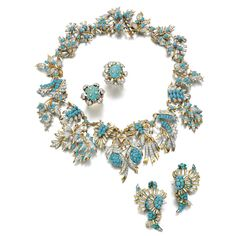 TURQUOISE AND DIAMOND PARURE, SCHLUMBERGER, 1960S