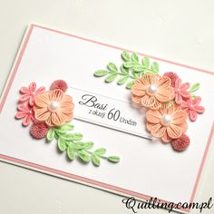 birthday, greeting card, quilling, handmade, Quilling.com.pl