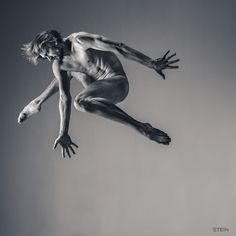 Dance is an outstanding photo series of dancer Oleg Markov by Russian photographer Vadim Stein.