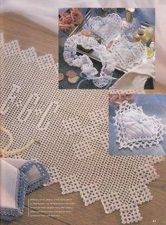 Wedding Crochet Patterns Keepsakes Garter, Something Blue Handkerchief Edging and more