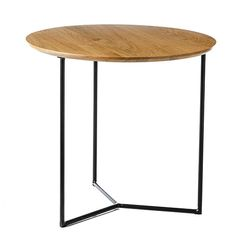 With a natural timber surface and sleek black legs, the Arc side table from Home Republic is a stunning, contemporary piece. Perfect for beside the bed or couch this gorgeous table will add a touch of modern style to your home. Home Republic, Moving Out, Bed Styling, Contemporary, Modern, Couch, Table, Nursery, Furniture