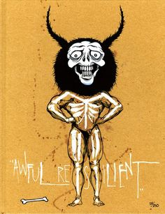 """Alex Pardee """"AWFUL RESILIENT"""" LIMITED SPECIAL EDITION BOOK with handpainted cover NUMBER 54/250"""