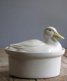 vintage duck casserole dish.