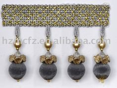 material: polyester, bead color: any color will be available use: for curtain, sofa, decoration and ect.
