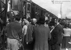This image show the Jewish people left Munich to France in 1948. After the WWII, many Jewish people who lived in Poland and Germany began move to other countries due to many reasons, and they thought France, the United Kingdom or American occupation Zone could be the better choice for the future life. The importance of this image is to show how Jewish people thought about German society.