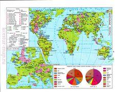 Минеральные ресурсы мира. Карта минеральных ресурсов мира, A0 -