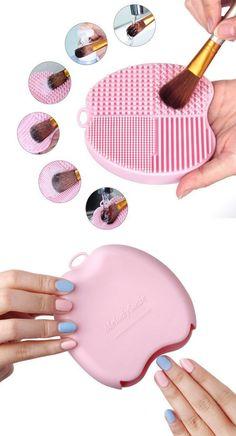 Apple Shape Makeup Brush Cleaner Glove / Brush Cleaning Mat