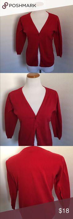 Torrid Red Button Down Cardigan Torrid Red Button Down Cardigan. Size 0. Perfect for the holidays. torrid Sweaters Cardigans