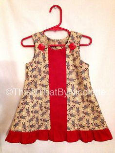 Adorable sock monkey dress by ThisNThatByNicolette on Etsy