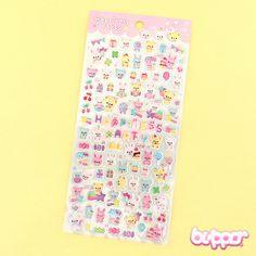 Buy Mini Bear & Bunny Happiness Party Stickers | Free Shippin | Blippo Kawaii Shop