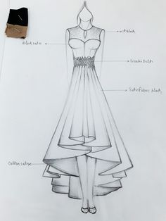 ideas fashion illustration outlines haute couture Best Picture For fashion sketches win Dress Design Drawing, Dress Design Sketches, Fashion Design Sketchbook, Fashion Design Drawings, Dress Drawing, Fashion Sketches, Fashion Figure Drawing, Fashion Drawing Dresses, Drawing Fashion