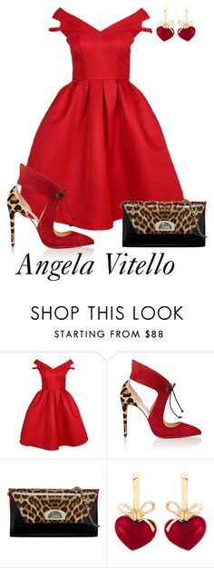 """""""Untitled #836"""" by angela-vitello on Polyvore featuring Christian Louboutin and KDIA"""