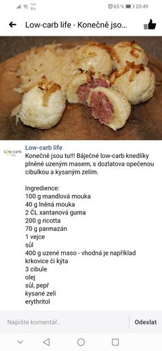 Low Carb Recipes, Diet Recipes, Snack Recipes, Snacks, Low Carb Diet, Food Inspiration, Paleo, Food And Drink, Meals