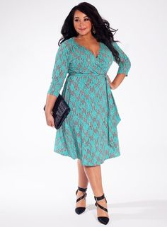 Plus Size Dress in Jade Lane