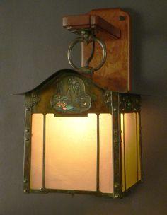 Aurora Studios | Waterlily and Iris | Greene and Greene Style Lantern | Arts and Crafts | Craftsman | Bungalow