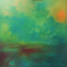 «L'âme en bleu» - toile réalisée en août 2012