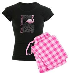 Pink Flamingo Women's Light Pajamas Pink Flamingo Pajamas | CafePress.com